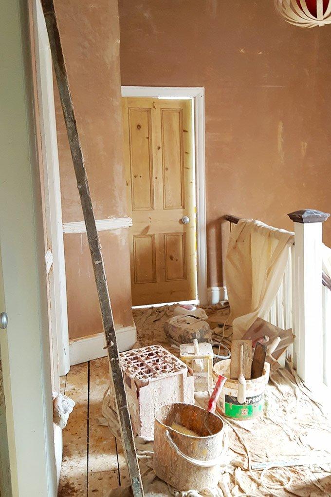 Hallway Plastering In Progress