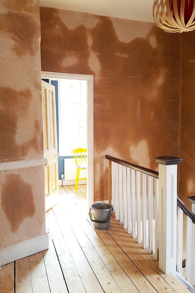 Freshly Plastered Hallway