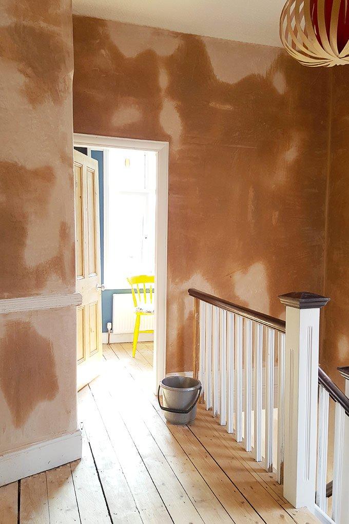 Newly Plastered Hallway