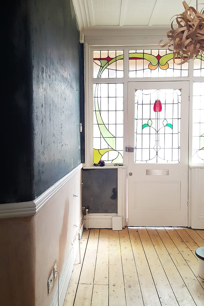 Hallway Plastered with Magnetic Plaster