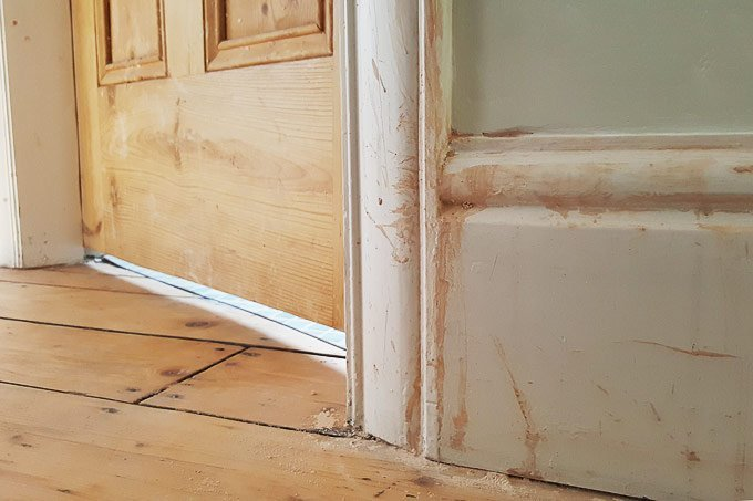 Skirting Board After Messy Plastering