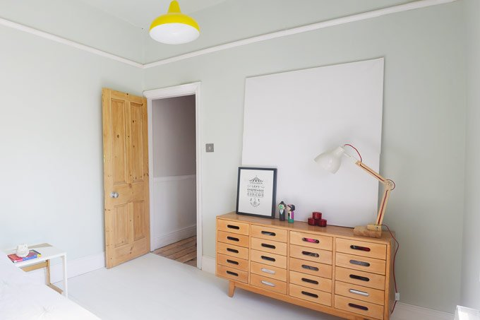 Bedroom in Pale Powder and Esavian Sideboard