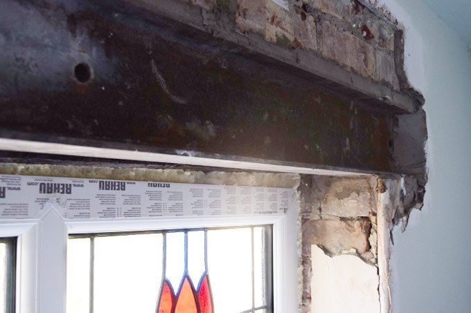 New Steel Lintel Over Window