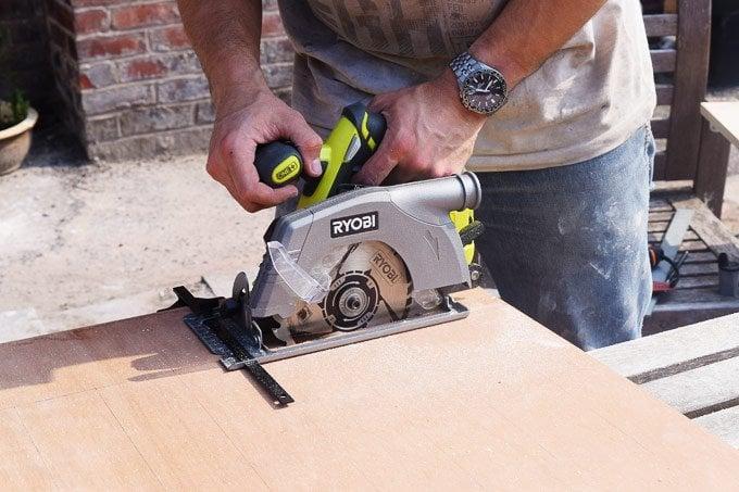 DIY Pegboard - Sawing