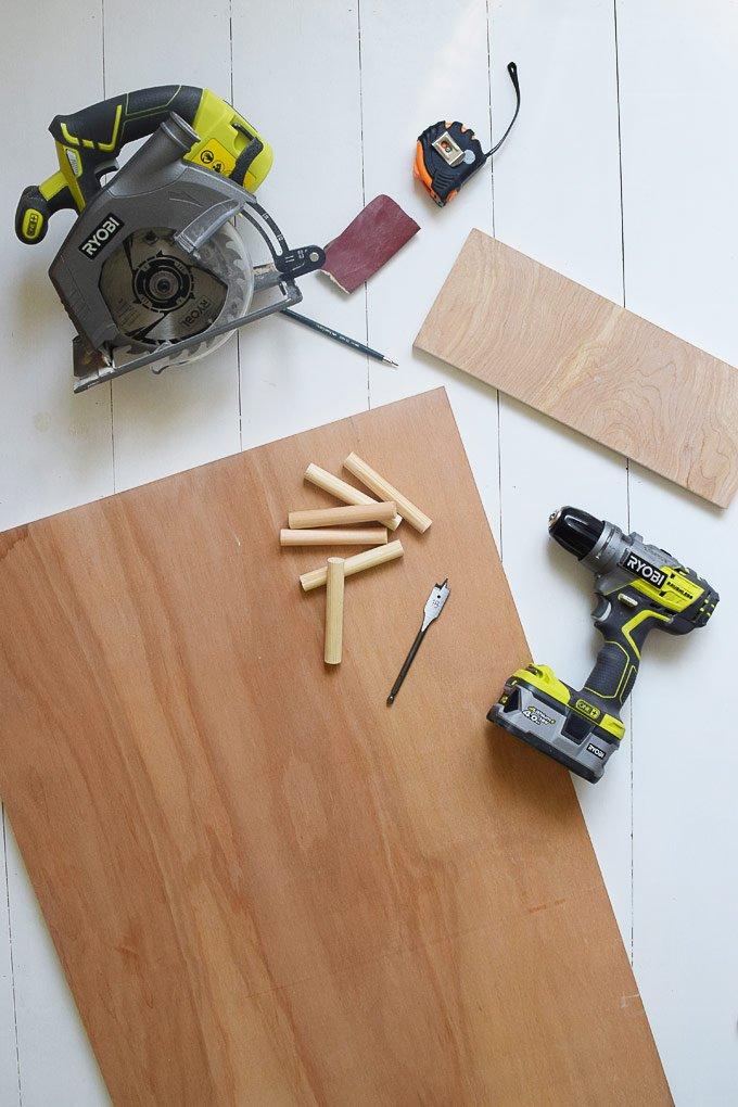 DIY Pegboard - Tools & Supplies