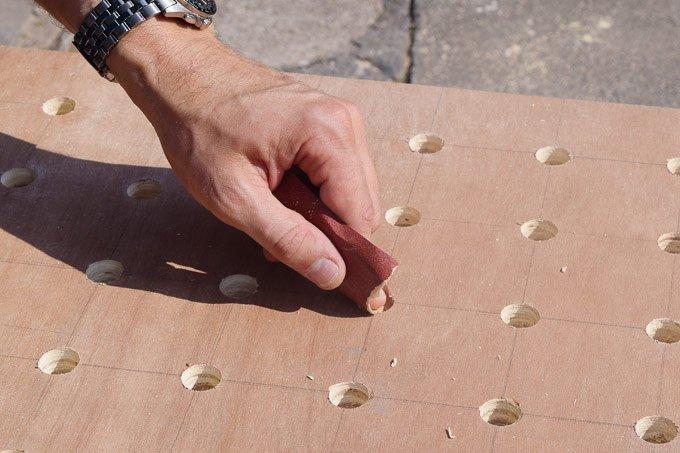 DIY Pegboard - Sanding