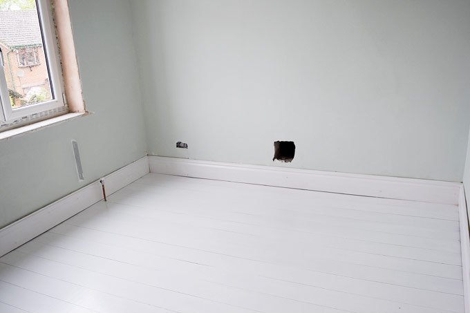 How To Paint A Wood Floor Attach Skirting Little House On The Corner