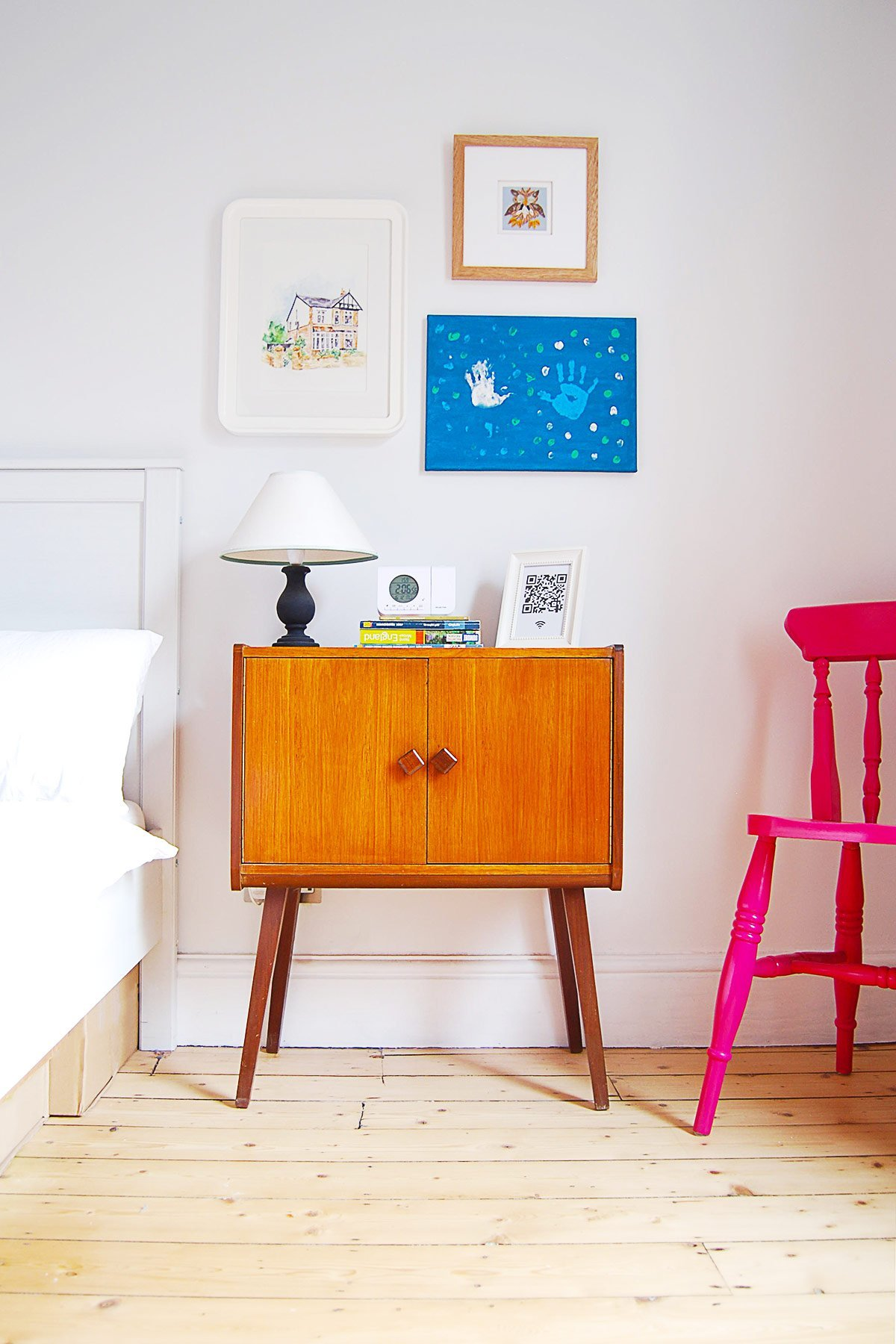 Guest Bedroom with Mid Century Cupboard | Little House On The Corner