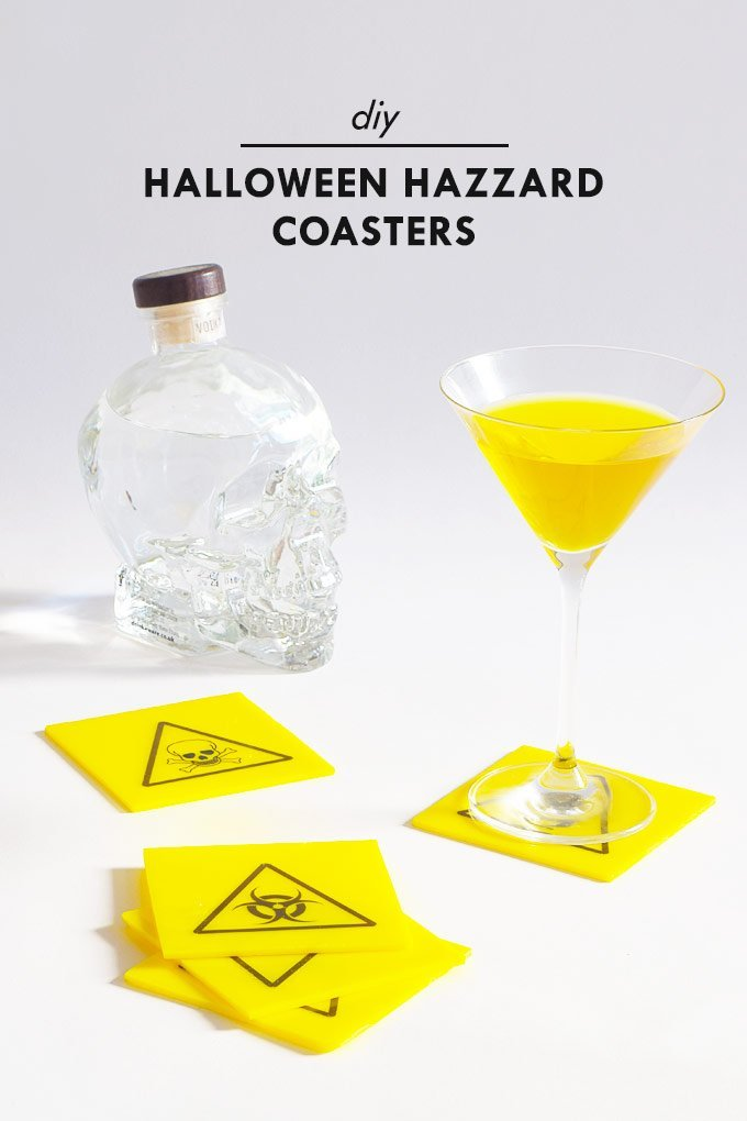 DIY Halloween Hazard Coasters | Little House On The Corner