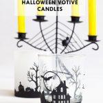 DIY Halloween Votive Candles