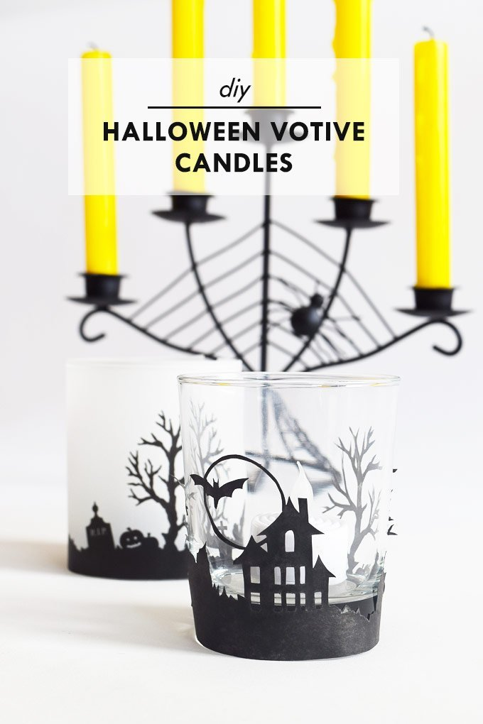DIY Halloween Votive Candles