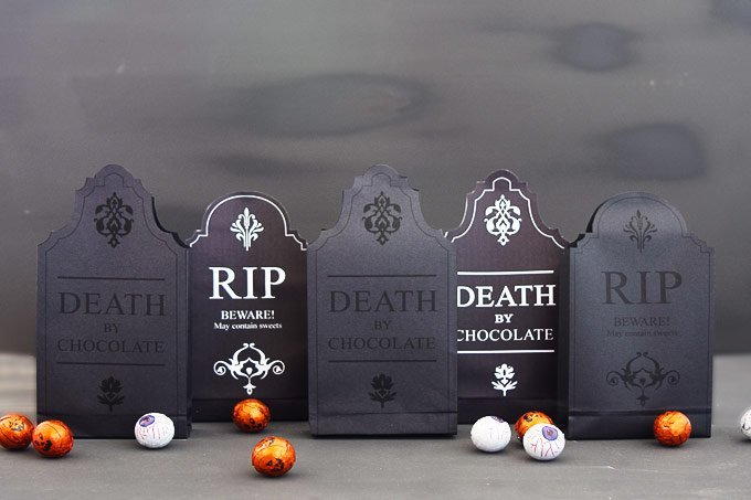 Halloween Gravestone Treat Boxes - Free Printable