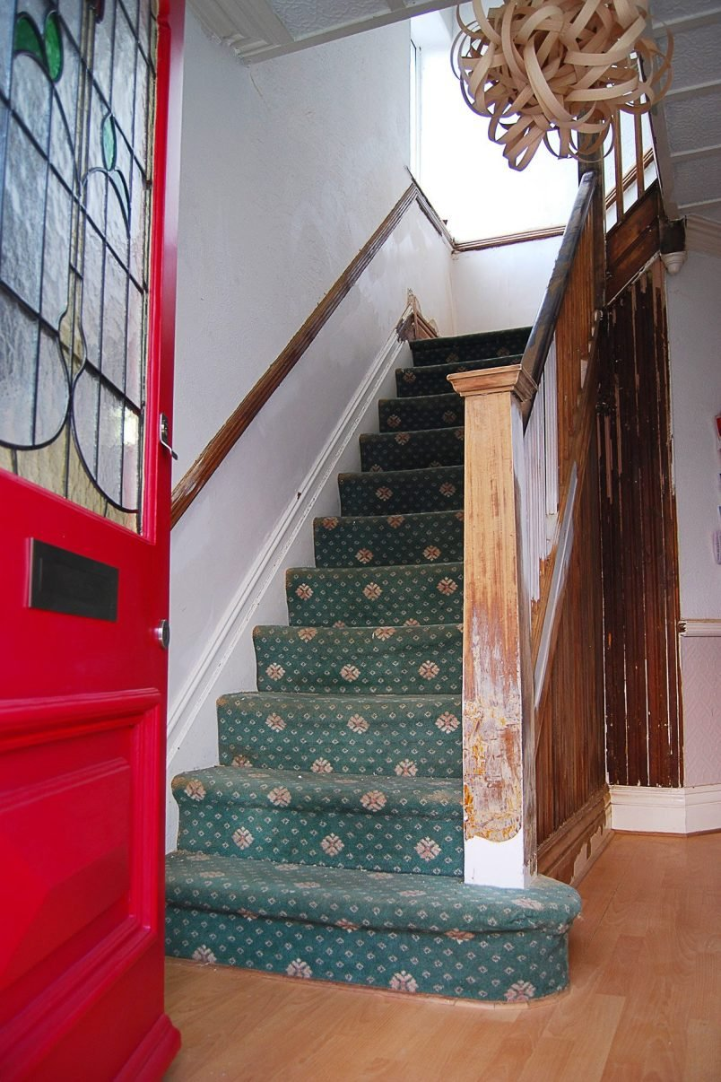 Staircase Stripping In Progress | Little House On The Corner