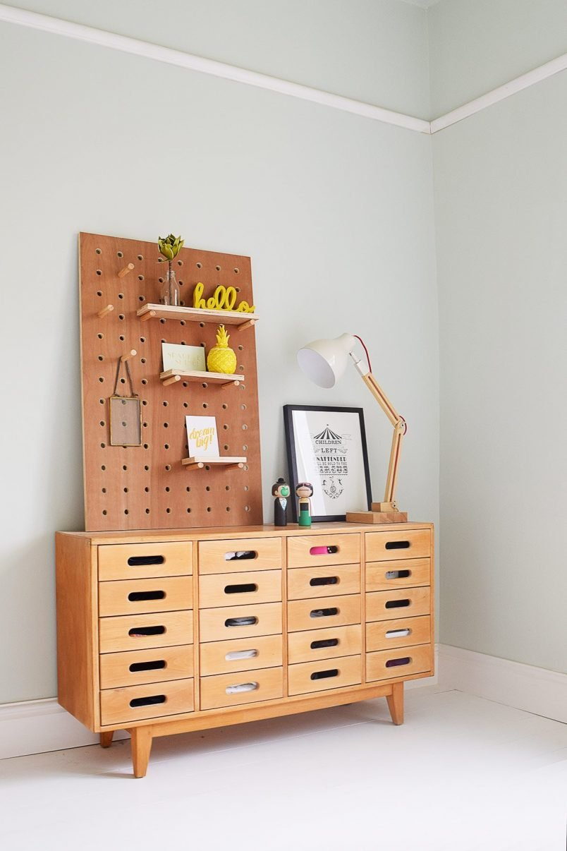 Esavian Sideboard with DIY Pegboard | Little House On The Corner