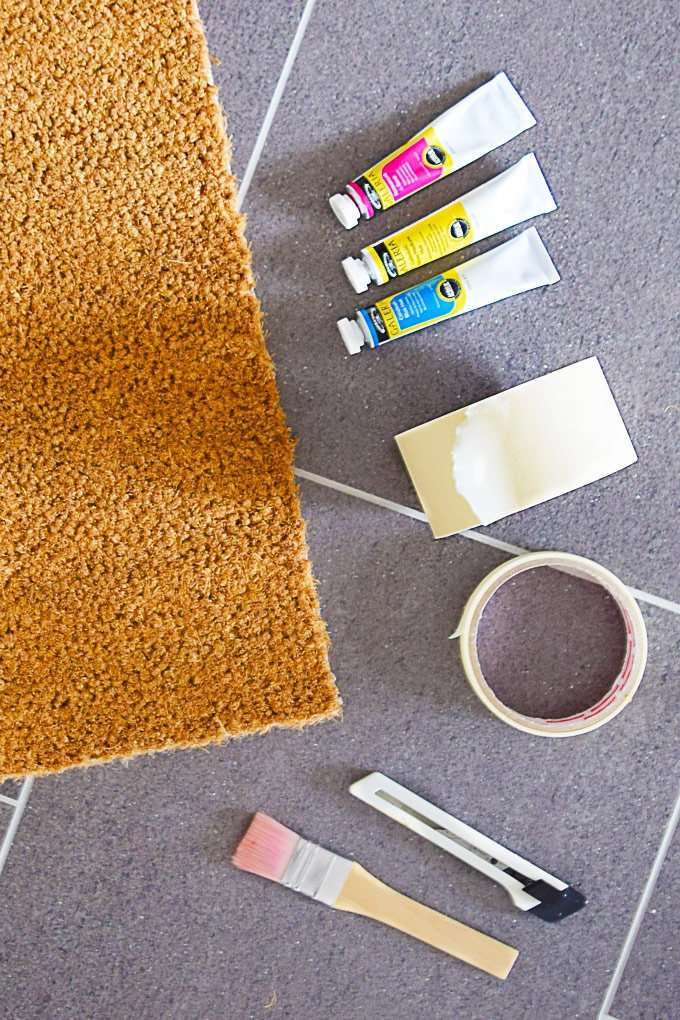 DIY Welcome Mat - Materials | Little House On The Corner