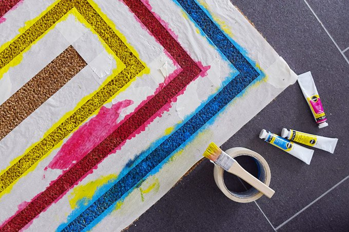 DIY Welcome Mat - Painting   Little House On The Corner