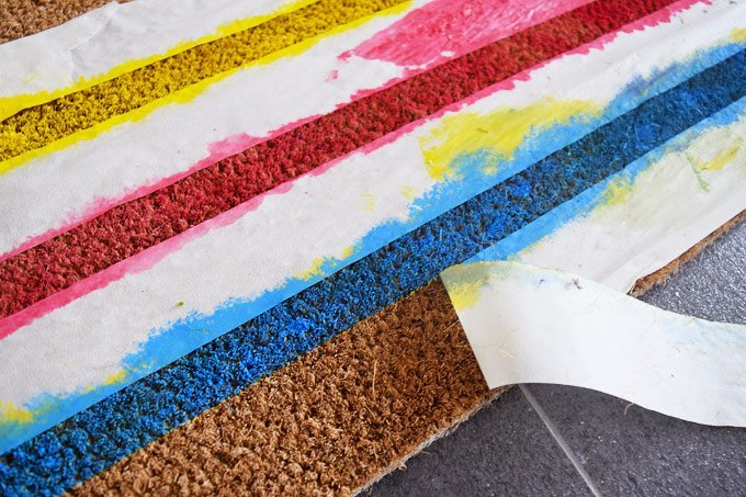 DIY Welcome Mat - Painting | Little House On The Corner