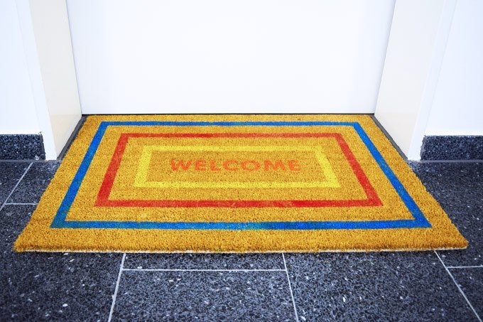 DIY Welcome Mat | Little House On The Corner