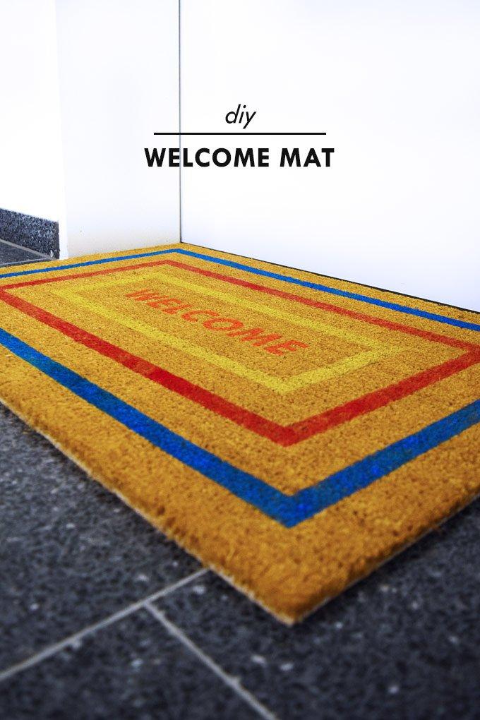 DIY Welcome Mat