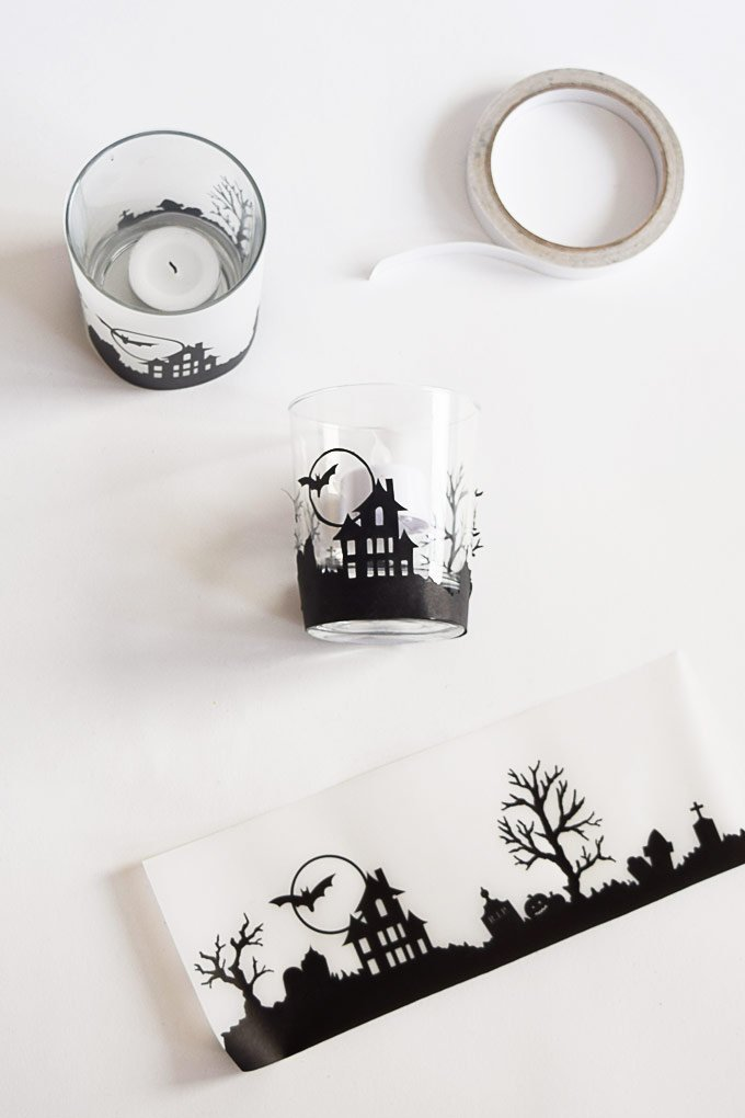 DIY Halloween Votive Candle