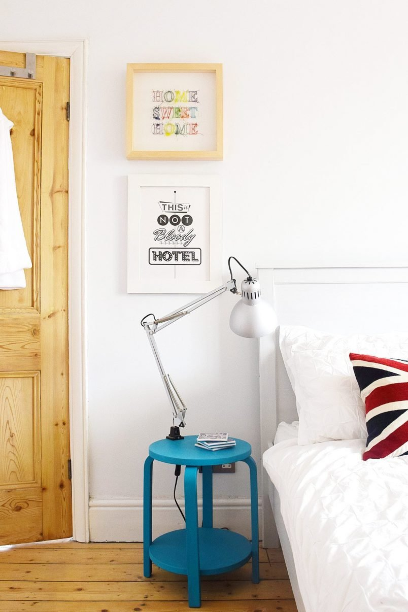 Guest Bedroom with Frosta Bedside Table | Little House On The Corner