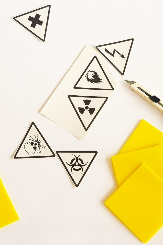 DIY Halloween Hazard Coasters - Supplies | Little House On The Corner