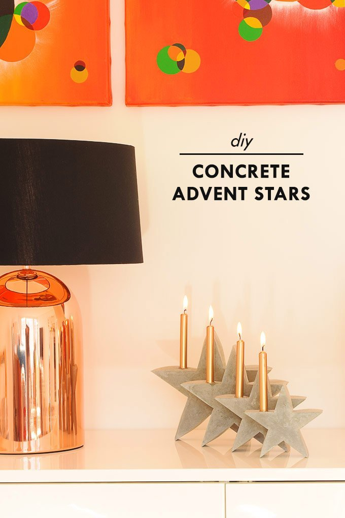 DIY Concrete Advent Stars | Little House On The Corner