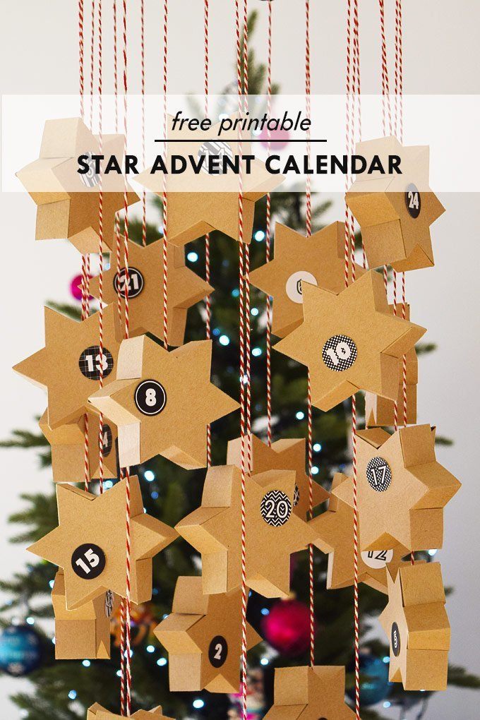 DIY Star Advent Calendar & A Free Printable | Little House On The Corner