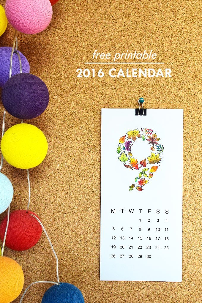 Free 2016 Calendar Printable