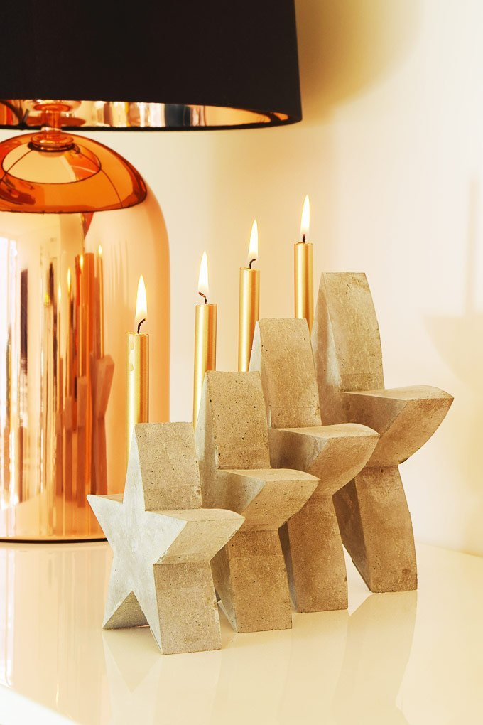 DIY Concrete Advent Wreath - Prepare Your Moulds | Little House On The Corner