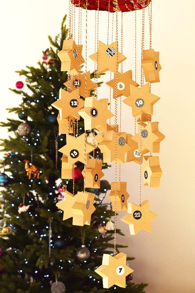 DIY Star Advent Calendar & A Free Printable | Little House On The Corner