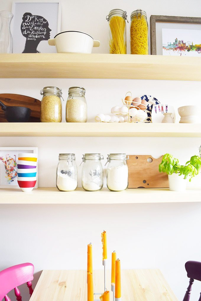 Floating Kitchen Shelves | Little House On The Corner