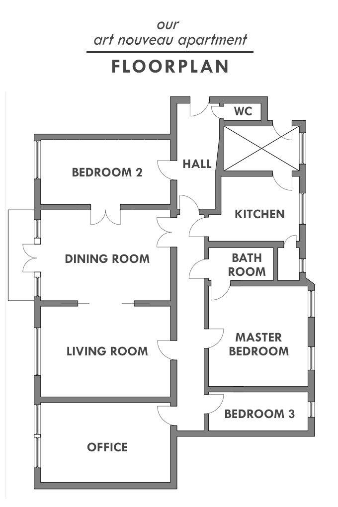Our Art Nouveau Apartment - Floorplan | Little House On The Corner