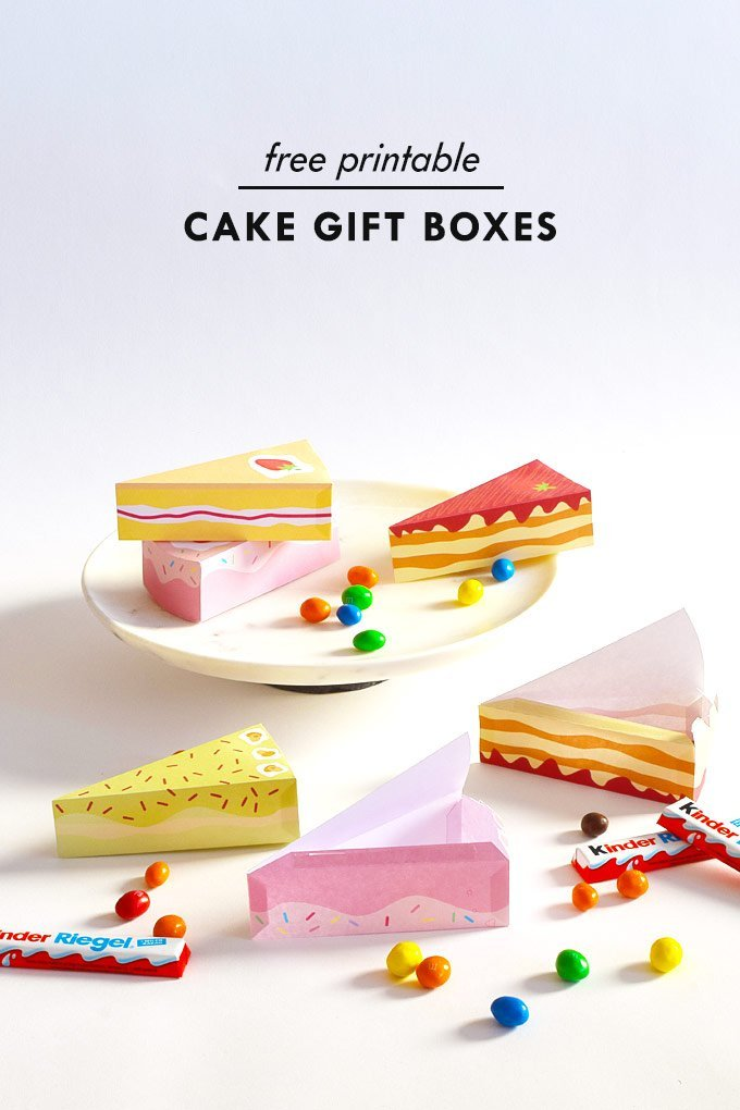 DIY Cake Gift Box - Free Printable - Little House On The Corner