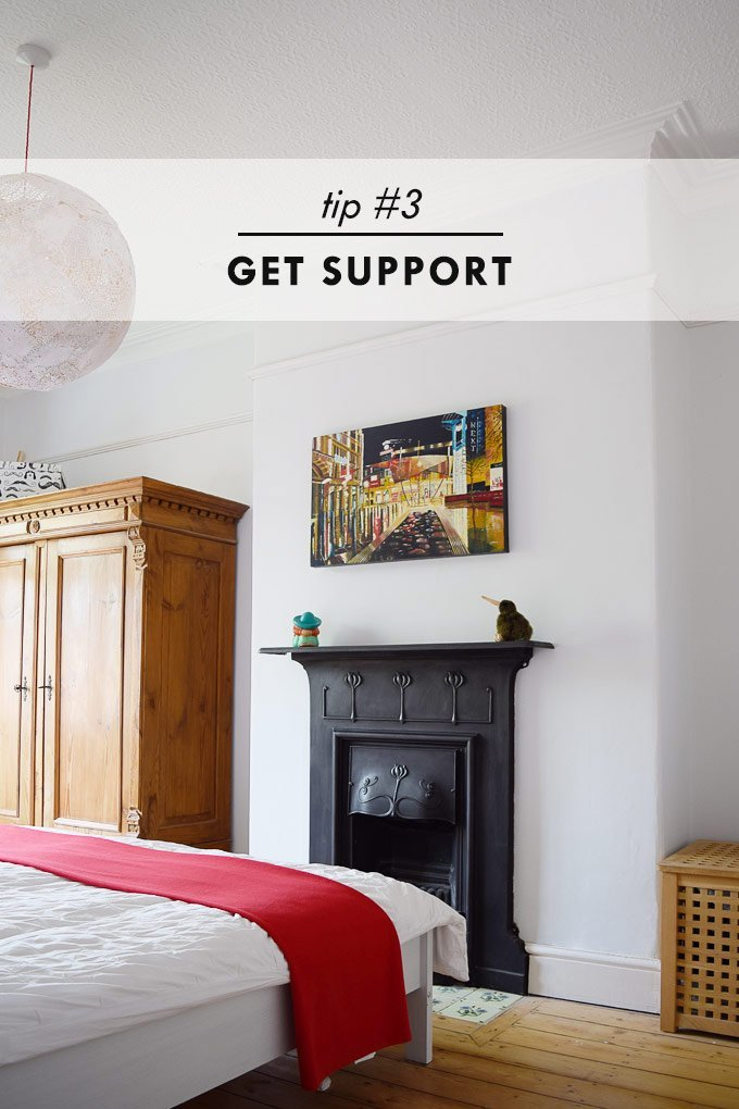 How To Stay Sane When House Hunting - Get Support - Little House On The Corner