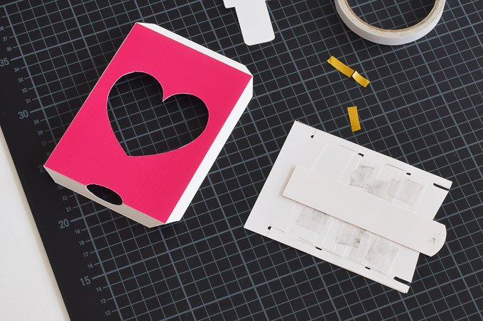DIY Push Pull Valentine's Card - Free Printable - Adding Pull - Little House On The Corner