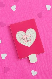 DIY Push and Pull Valentine's Card - Free Printable - Little House On The Corner