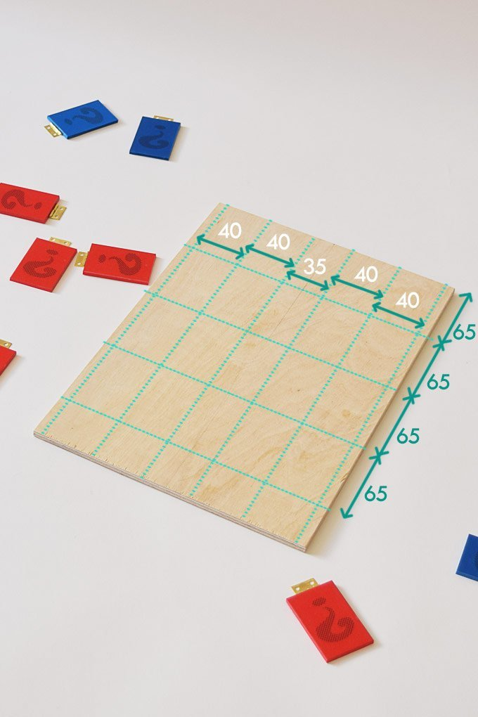DIY Guess Who Game - Setting Out Board | Little House On The Corner