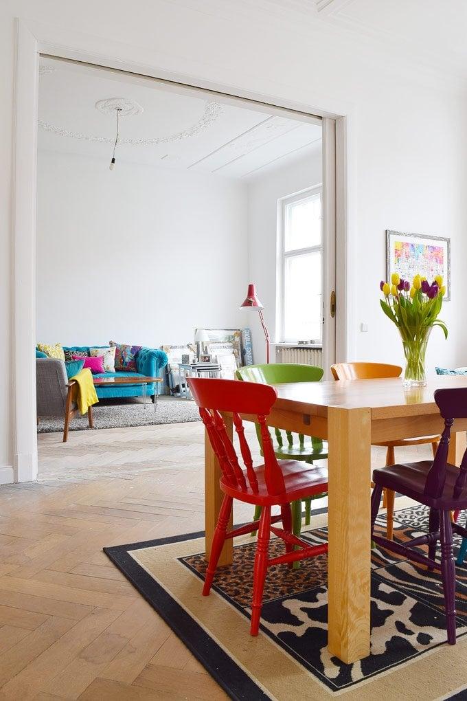 Dining Room & Living Room Before | Little House On The Corner