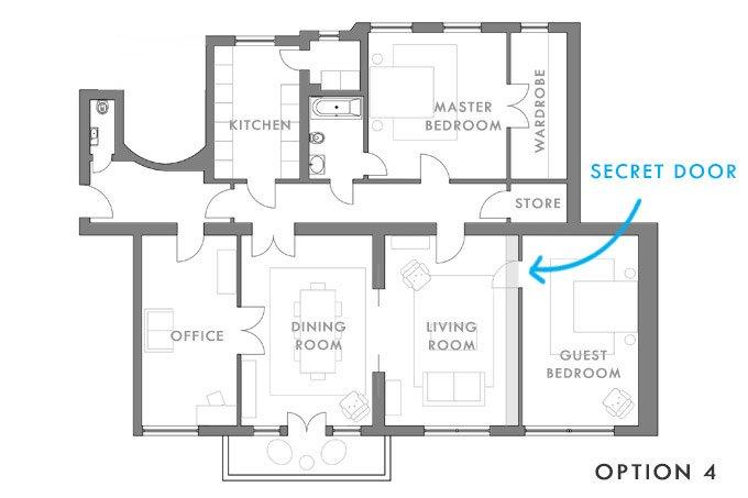 Option 4 - Secret Door | Little House On The Corner
