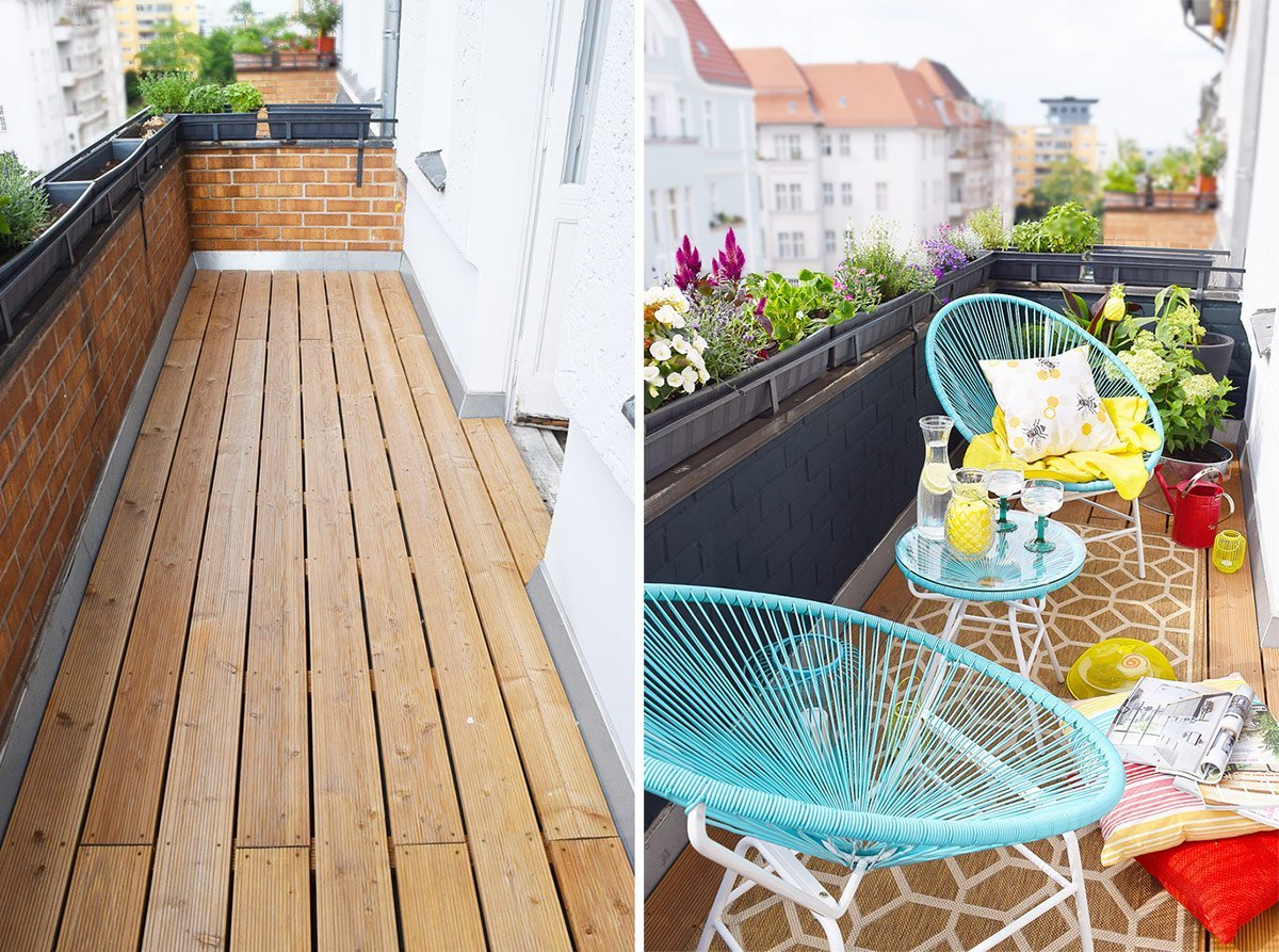 Cosy City Centre Balcony Before & After | Little House On The Corner