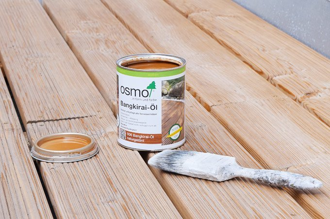 Treating Decking with Decking Oil | Little House On The Corner
