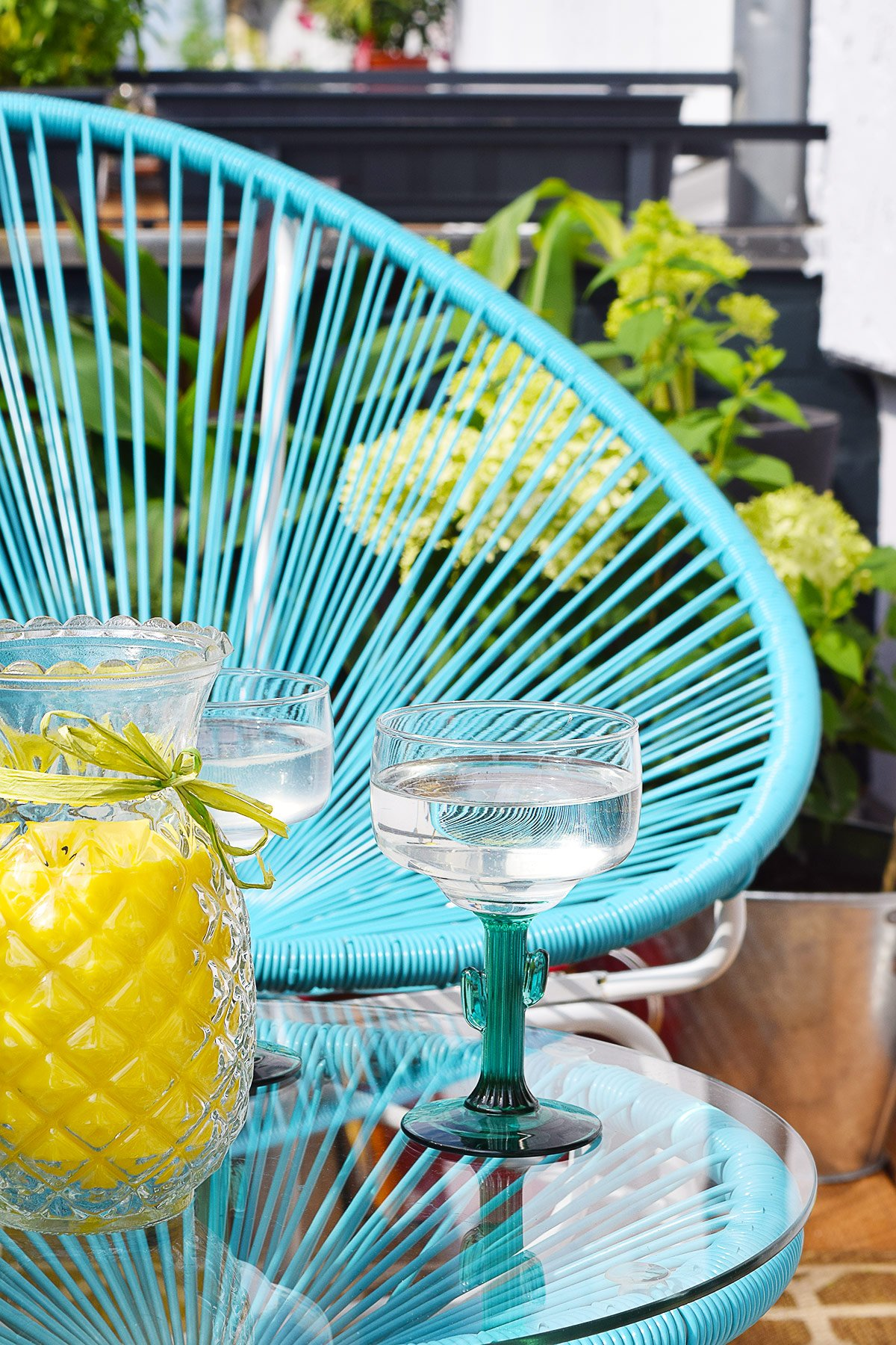 Acapulco Chair & Cactus Margarita Glasses | Little House On The Corner