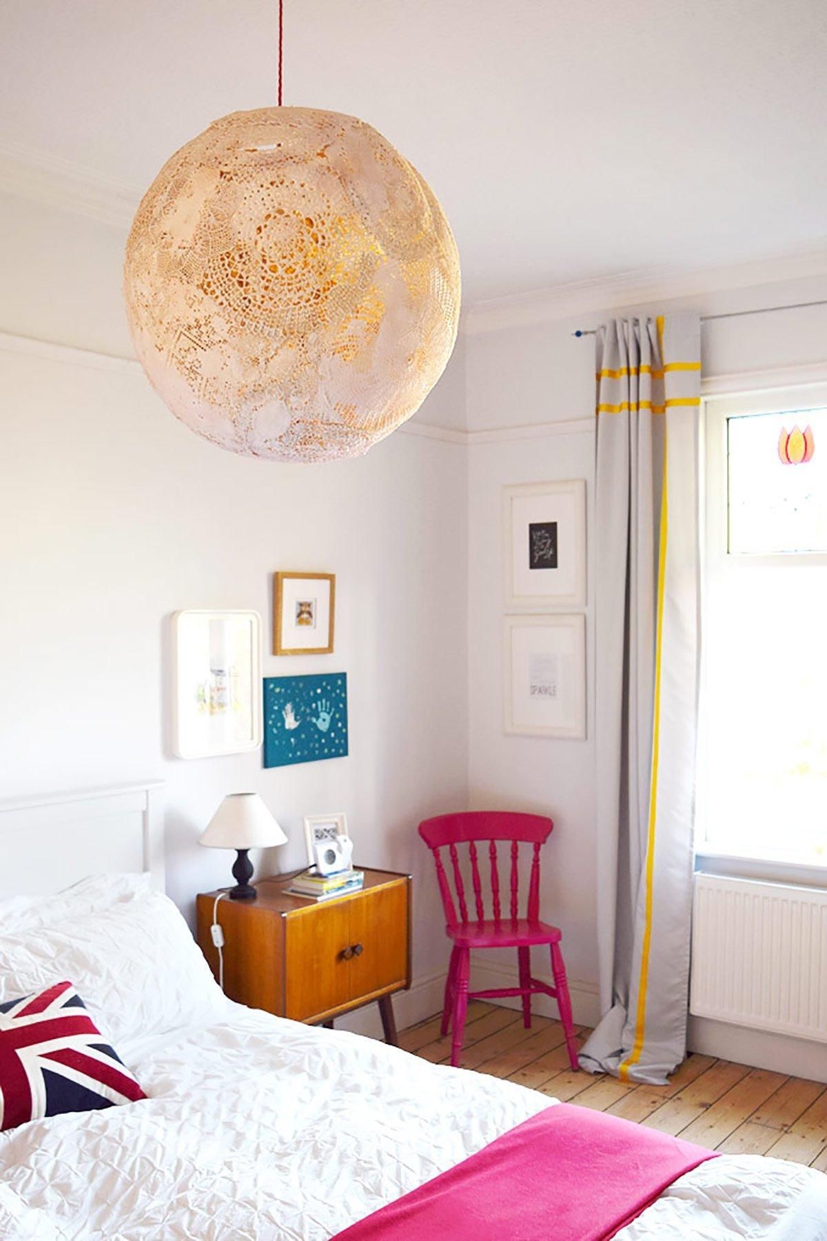 DIY Doily Lamp | Little House On The Corner