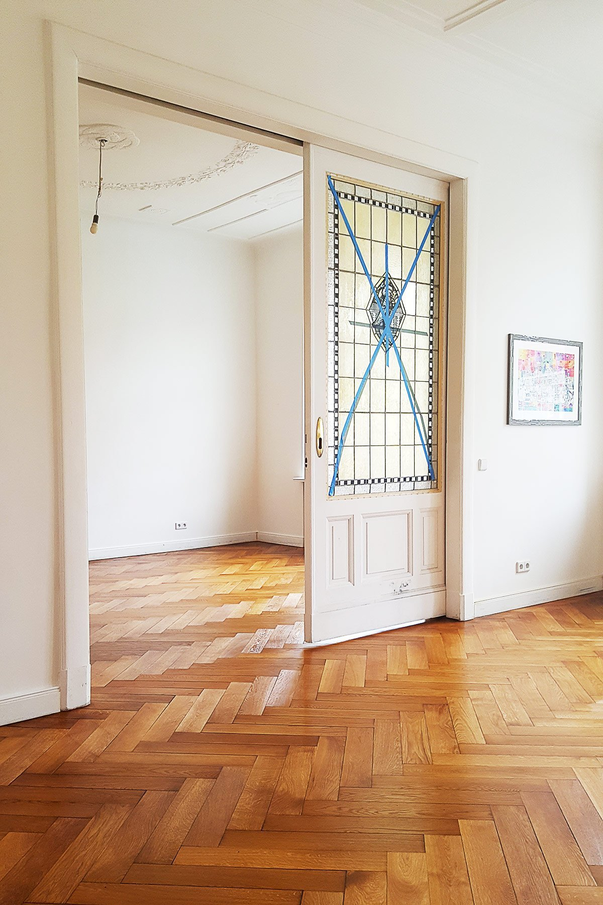 Stained Glass In Sliding Doors | Little House On The Corner