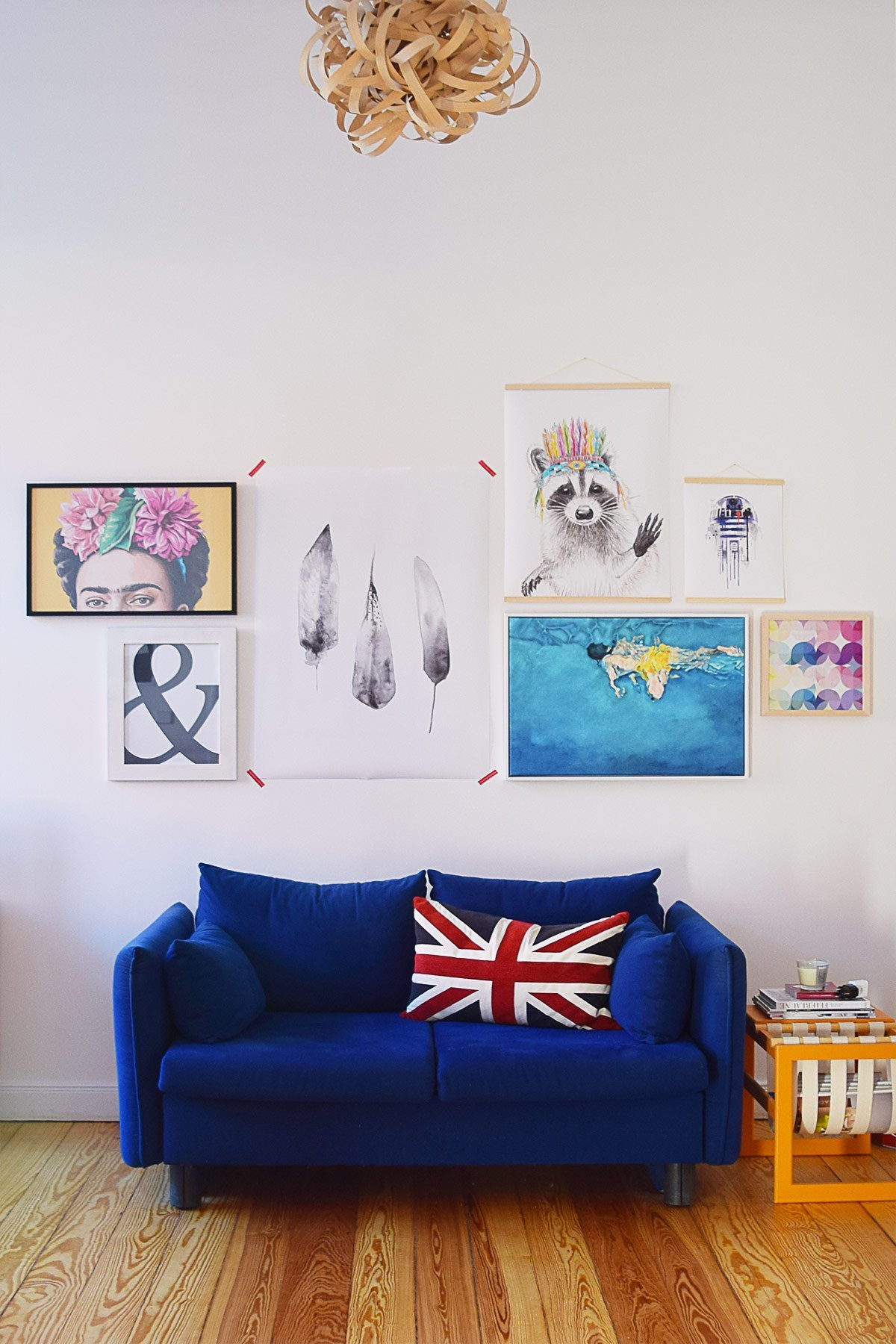 5 Tips For Creating A Motivational Home Office - Add Art - Gallery Wall | Little House On The Corner
