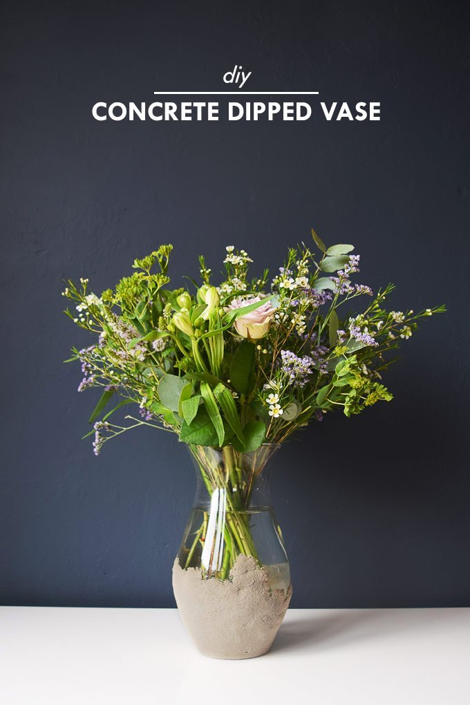 DIY Concrete Dipped Vase