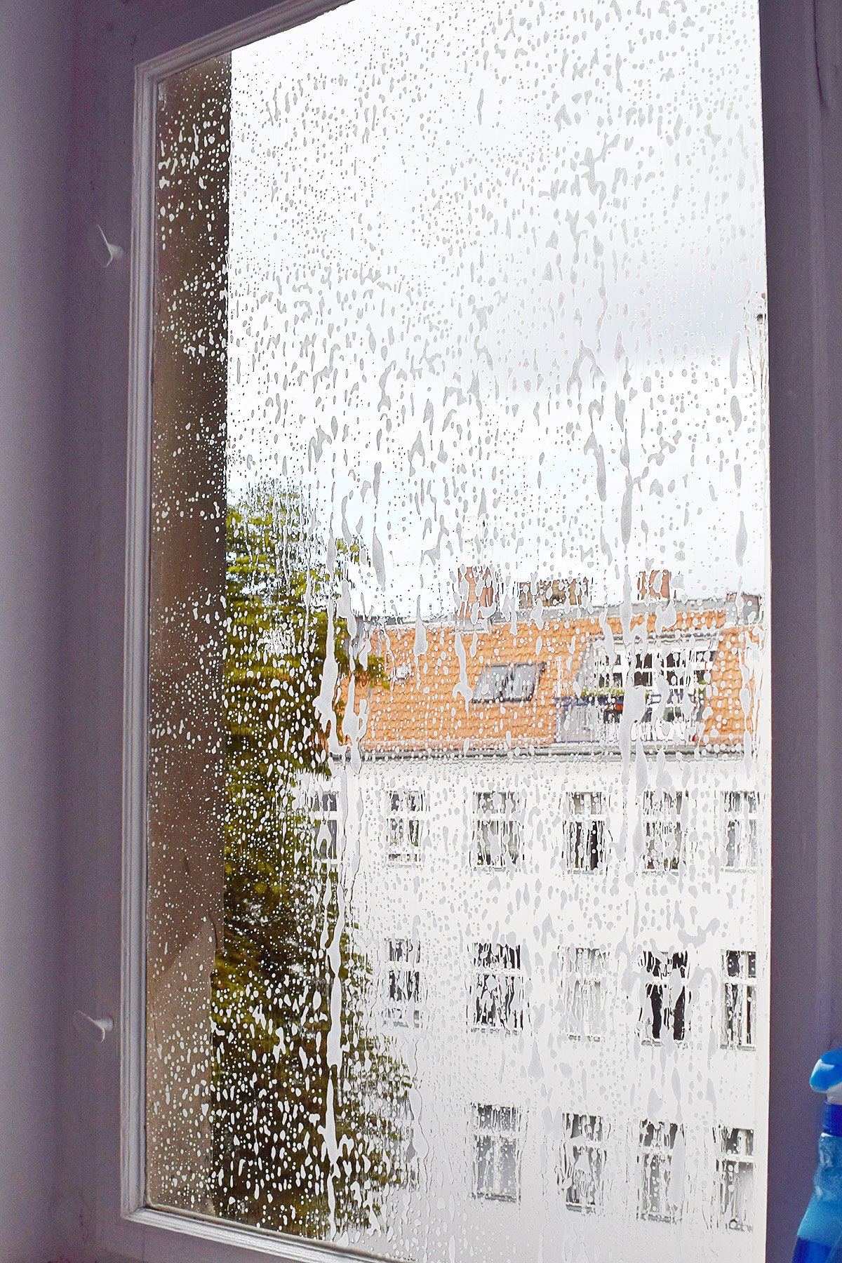 DIY Frosted Window | Little House On The Corner
