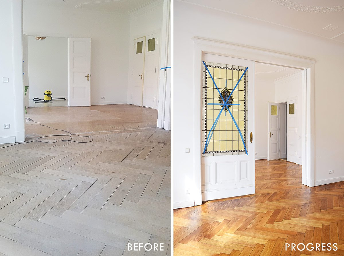 Floor Sanding - Before and Progress | Little House On The Corner