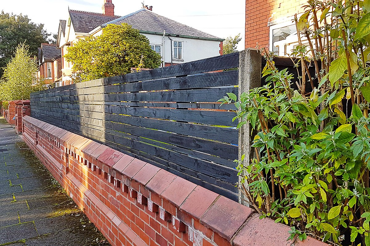DIY Slatted Fence | Little House On The Corner